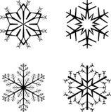 Flocons de neige illustration libre de droits