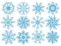 Flocons de neige. Photographie stock