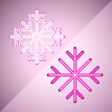Flocons de neige abstraits Images stock