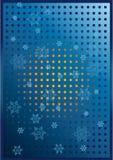 Flocons de neige au-dessus d'un fond bleu image libre de droits