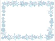Flocons de neige avec le fond blanc Fond simple illustration stock