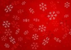Flocons de neige de blanc à rouge foncé Image libre de droits