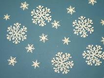 Flocons de neige blancs Image libre de droits