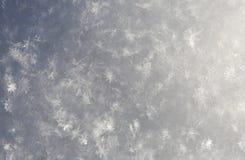 Flocons de neige blancs naturels, macro tir Photos stock