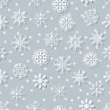 Flocons de neige blancs sans couture Photographie stock libre de droits