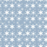 Flocons de neige blancs sur la tuile d'Aqua Background Seamless Background Pattern illustration de vecteur