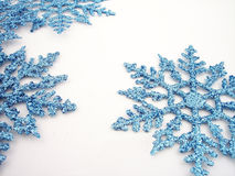 Flocons de neige bleus 1 Photos stock