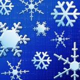 Flocons de neige bleus Image libre de droits