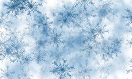 Flocons de neige bleus Image stock