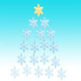 flocons de neige bleus de Noël de fond Image libre de droits