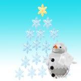 flocons de neige bleus de Noël de fond Photographie stock
