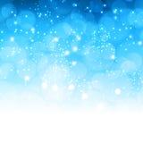 flocons de neige bleus de Noël de fond illustration de vecteur