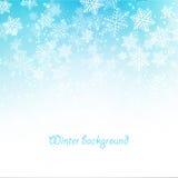 flocons de neige bleus de Noël de fond illustration stock