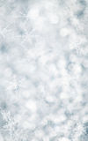 flocons de neige bleus de Noël de fond Photographie stock libre de droits
