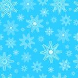 flocons de neige bleus de Noël de fond Modèle sans couture de flocons de neige - fond d'hiver Photographie stock libre de droits