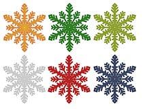 Flocons de neige colorés Photos libres de droits