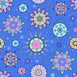 Flocons de neige colorés Photos stock
