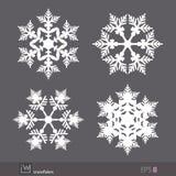Flocons de neige, conception de vecteur Photo libre de droits