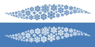Flocons de neige décoratifs, élément Décoration de Noël, concept d'hiver Illustration de vecteur illustration de vecteur
