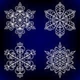 Flocons de neige décoratifs Images libres de droits
