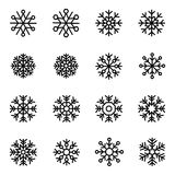 Flocons de neige décoratifs de vecteur réglés Photographie stock libre de droits