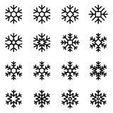 Flocons de neige décoratifs de vecteur réglés Photo stock