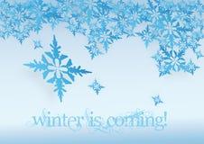 Flocons de neige d'hiver photo stock
