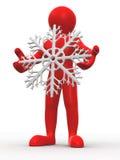 flocons de neige d'homme Image libre de droits