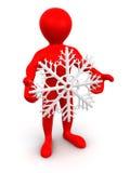flocons de neige d'homme Images libres de droits