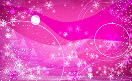 Flocons de neige d'imagination rose-clair Illustration Stock