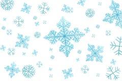 Flocons de neige d'isolement Photos libres de droits