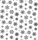 Flocons de neige d'isolement de vecteur - vecteur courant Photo libre de droits