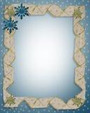Flocons de neige de cadre de vacances de Noël illustration stock
