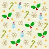 Flocons de neige de carte de festival Photo stock