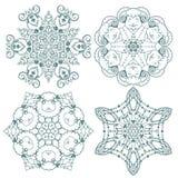 Flocons de neige de griffonnage Illustration Stock