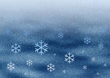 Flocons de neige de l'espace illustration de vecteur