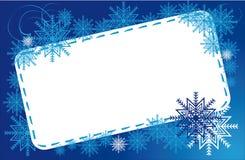 Flocons de neige de l'hiver de vue Photographie stock