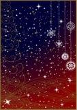 Flocons de neige de l'hiver - fond de Noël illustration libre de droits