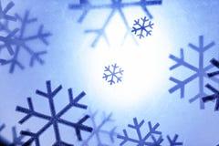 Flocons de neige de Noël photographie stock
