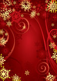 Flocons de neige de Noël Image libre de droits