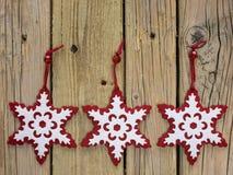 Flocons de neige de Noël Photos libres de droits