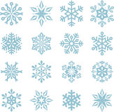 Flocons de neige de Noël Photo libre de droits