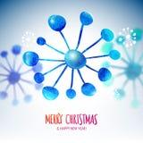 Flocons de neige de Noël avec l'effet brouillé Photographie stock libre de droits