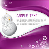 flocons de neige de Noël d'ampoules blancs Photo libre de droits