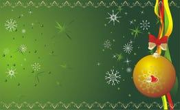 flocons de neige de Noël de drapeau de bille Photos libres de droits