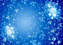 Flocons de neige de Noël de l'hiver Photos libres de droits