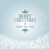 Flocons de neige de Noël et de bonne année illustration de vecteur