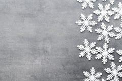 Flocons de neige de Noël, fond dans le style de vintage Carte de voeux Photo libre de droits