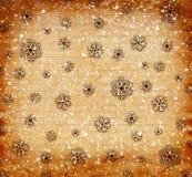 Flocons de neige de Noël sur le fond abstrait Image stock
