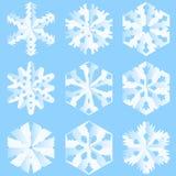 Flocons de neige de papier Photos stock